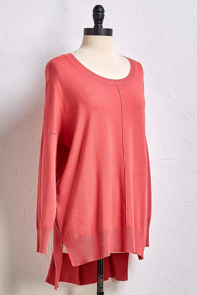 Step Hem Tunic Sweater