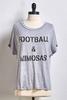 Football And Mimosas Tee