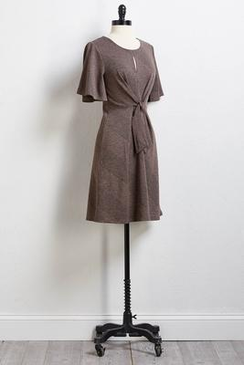 ribbed tie dress