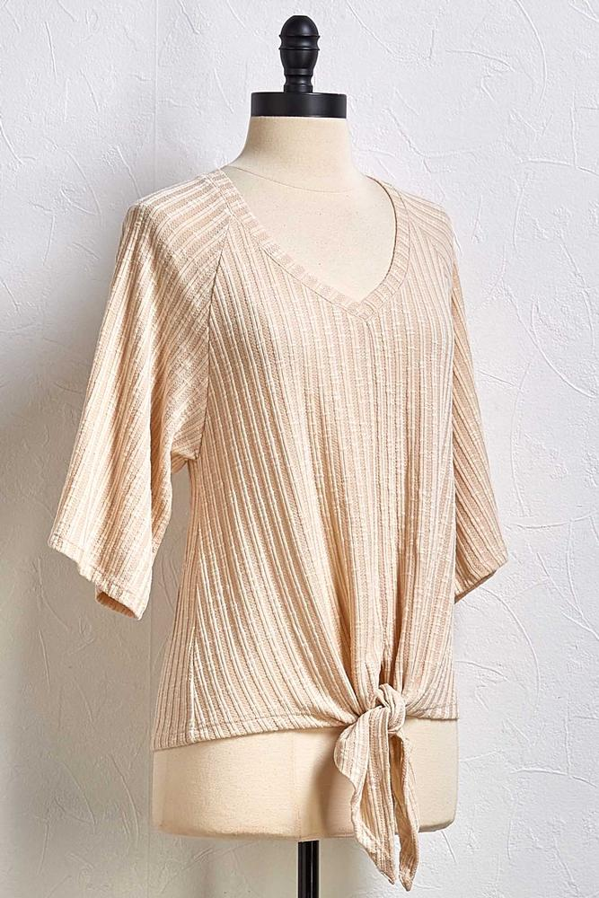 Who Flares Ribbed Top