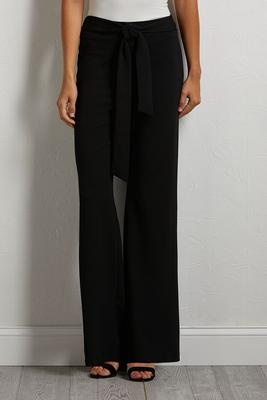 tied up wide leg pants