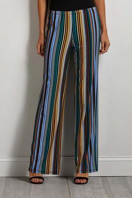 stripe bright palazzo pants