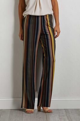autumn stripe palazzo pants