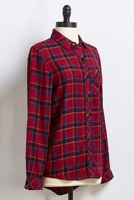 hayride plaid top