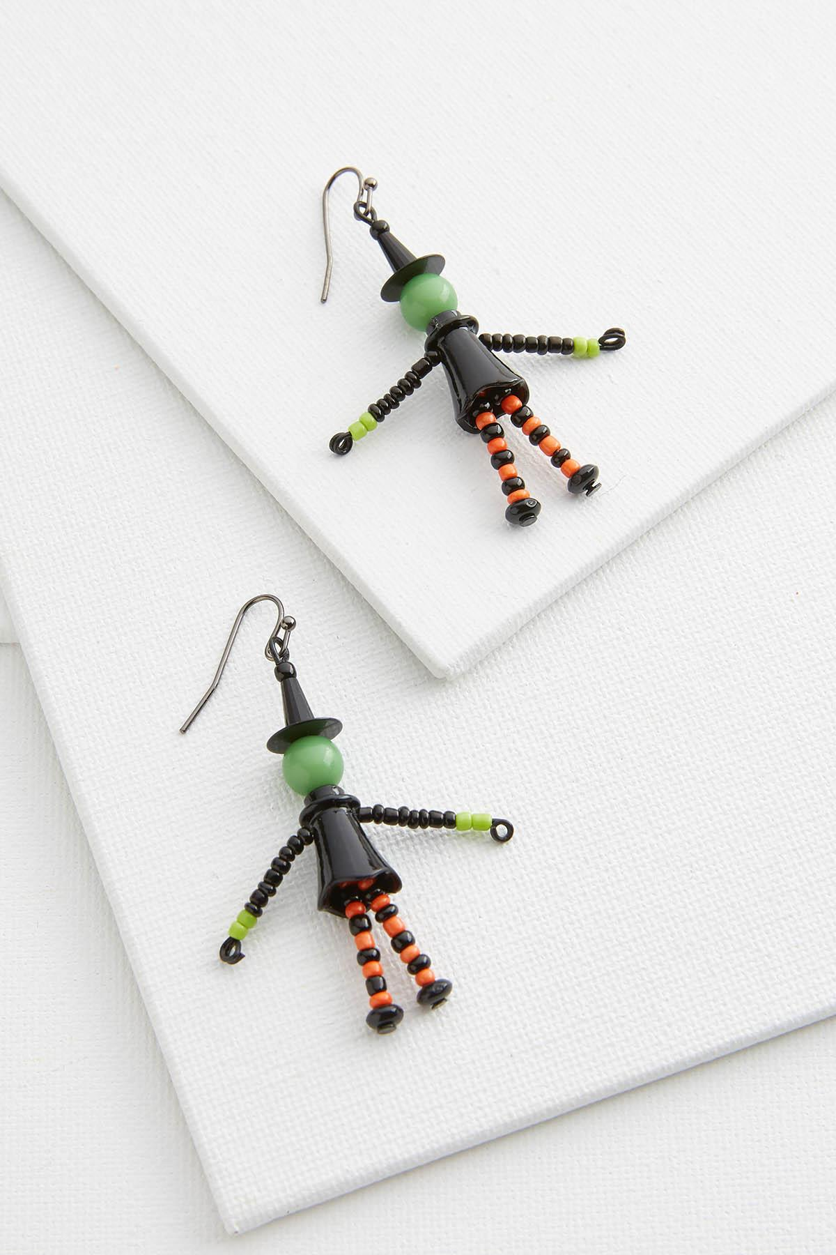 Beaded Witch Earrings