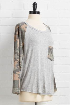 camo sleeve pocket tee