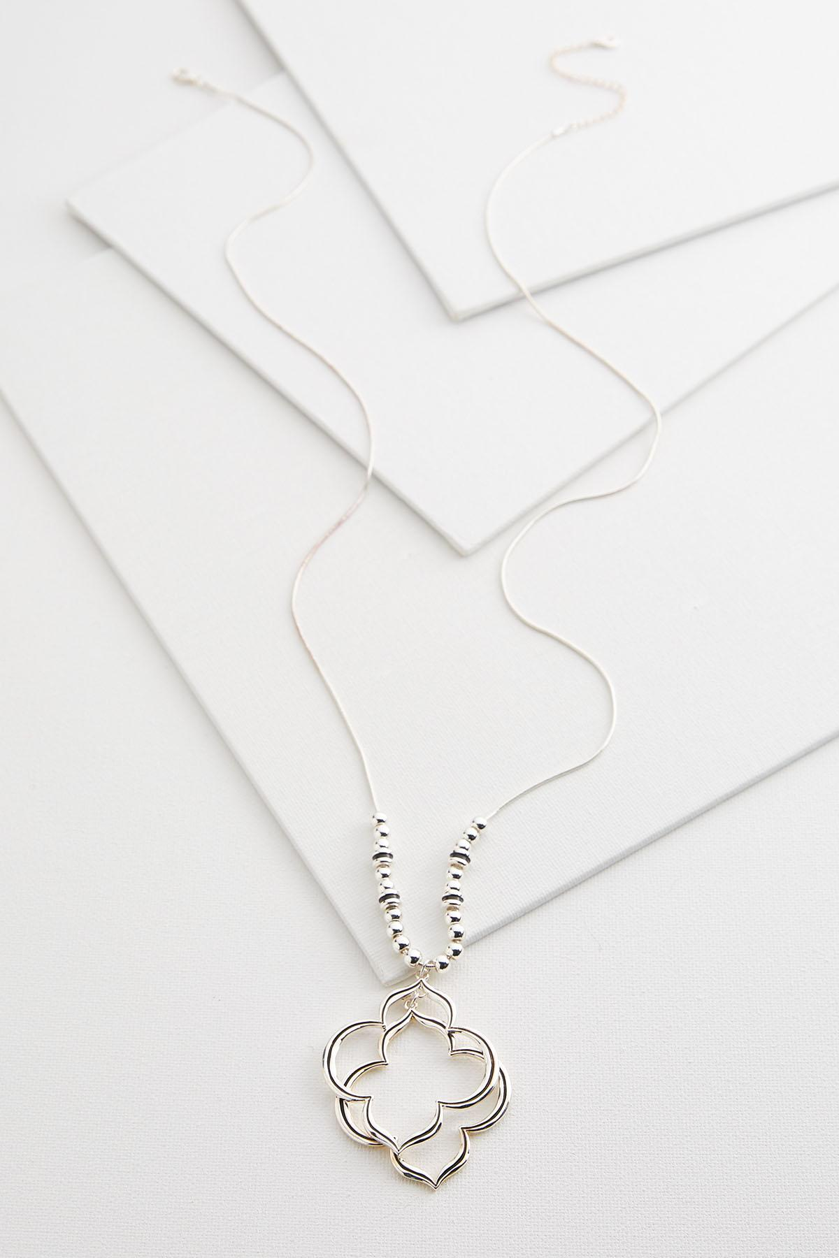 Stacked Clover Pendant Necklace