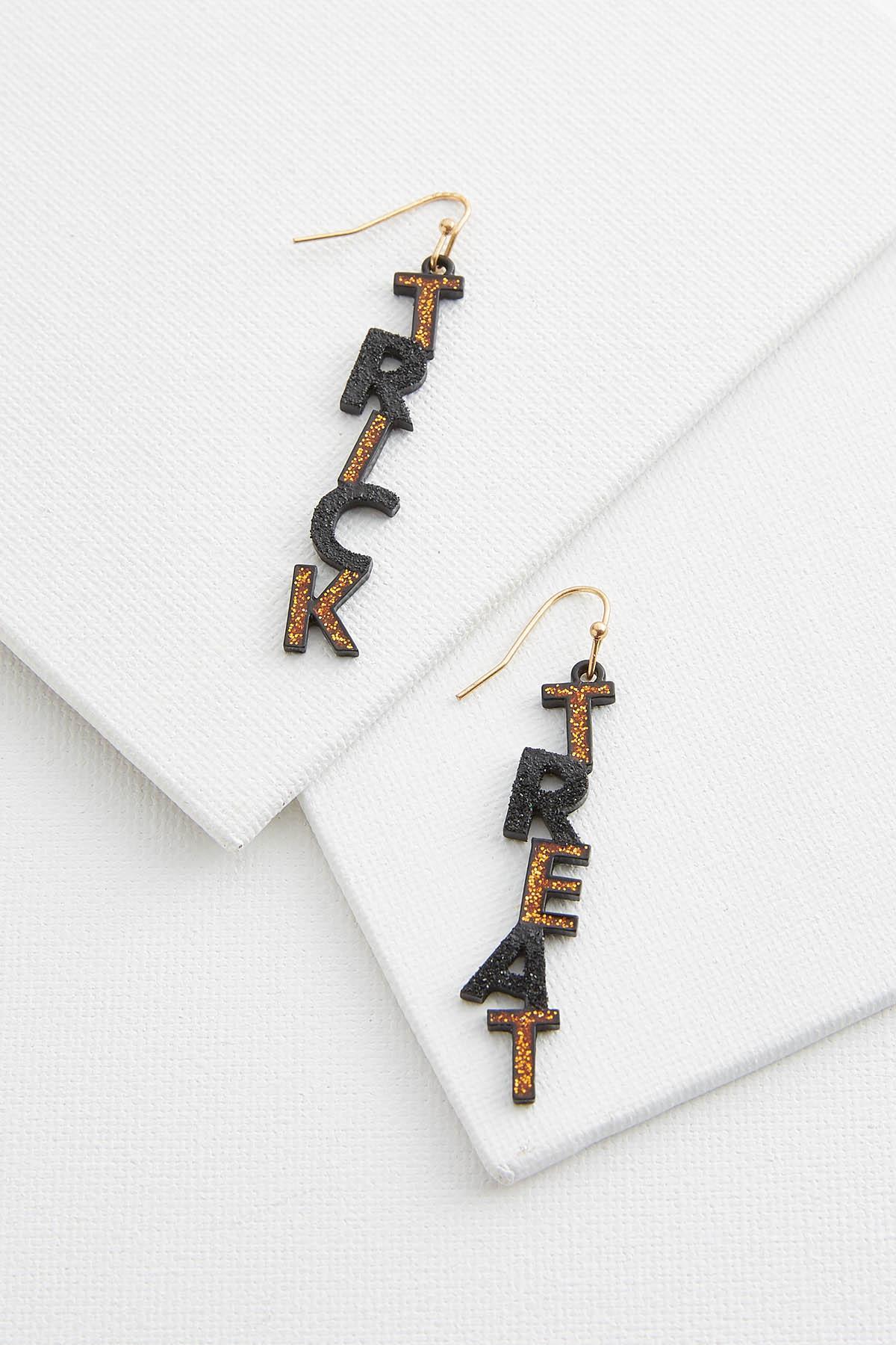 Glittery Trick Or Treat Earrings