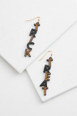 glittery trick or treat earrings