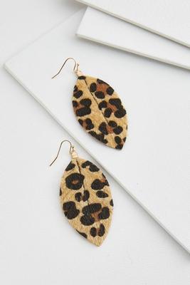 textured leopard print earrings