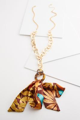 scarf embellished necklace