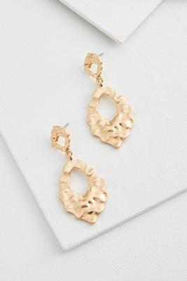 wavy gold door knocker earrings