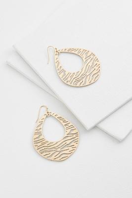 zebra tear shaped earrings