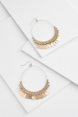 shaky disk wire earrings