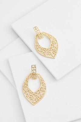 fancy filigree door knocker earrings