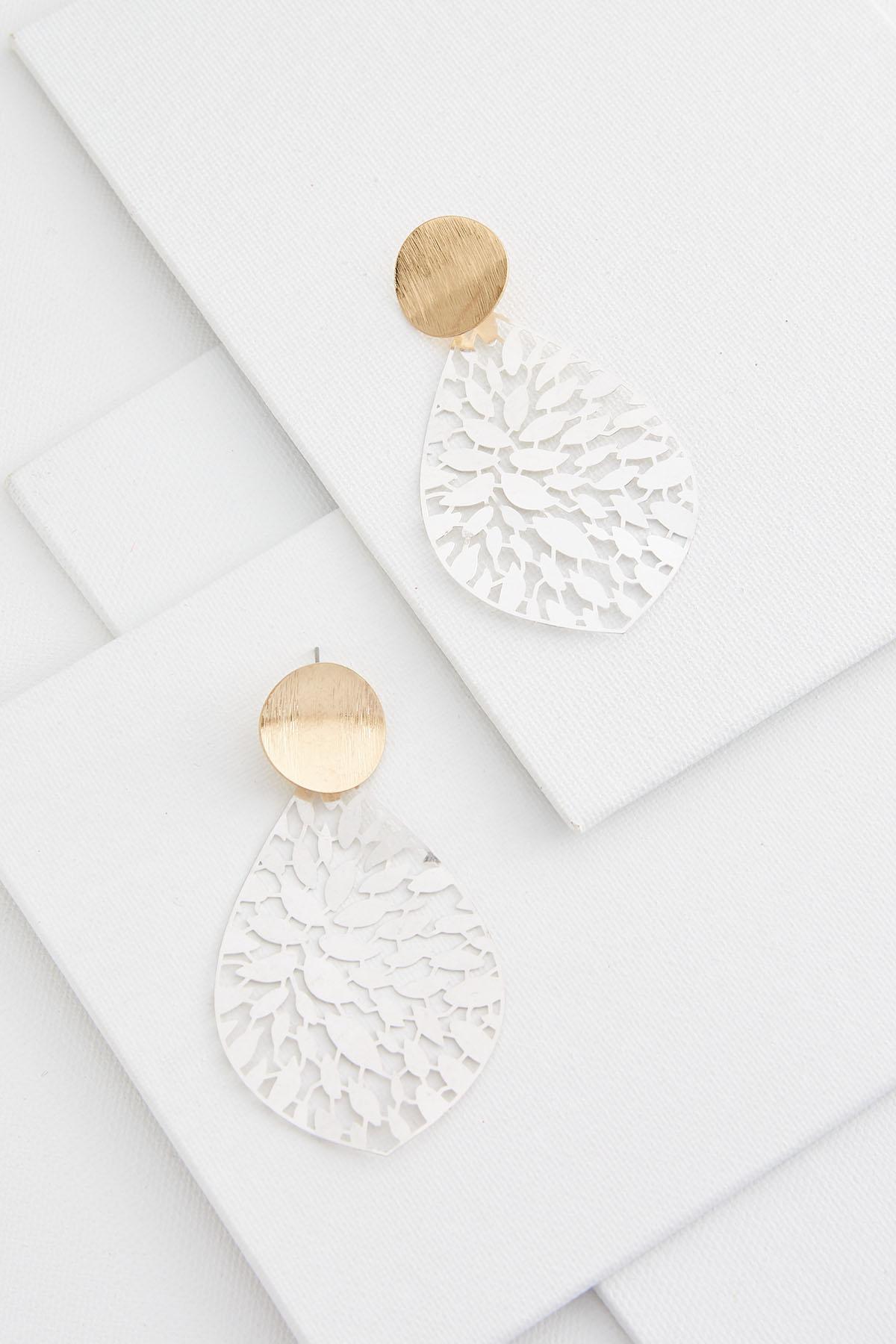 Leafy Two- Toned Earrings