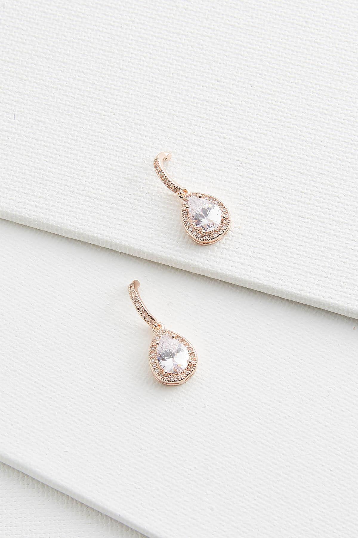 Teardrop And Roll Earrings