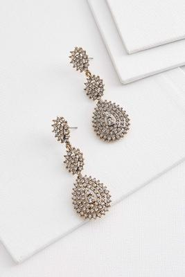 antique pave earrings