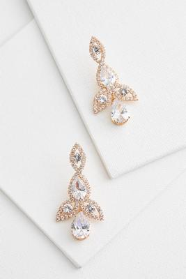 cubic zirconia chandelier earrings