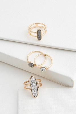 druzy ring set