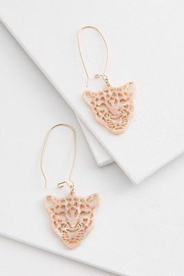 tiger lucite earrings