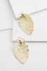 Faux Fur Leopard Foil Earrings