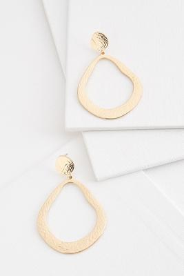 hammered abstract hoop earrings