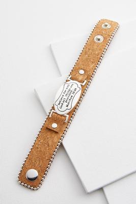 inspirational snap bracelet