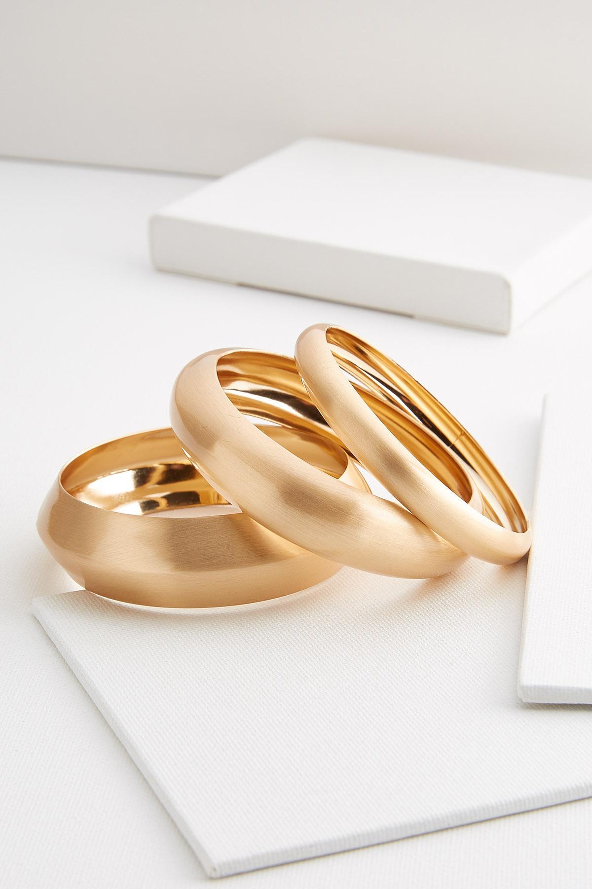 Vintage Gold Bangle Bracelets