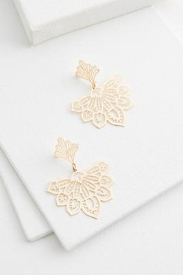 laser filigree earrings
