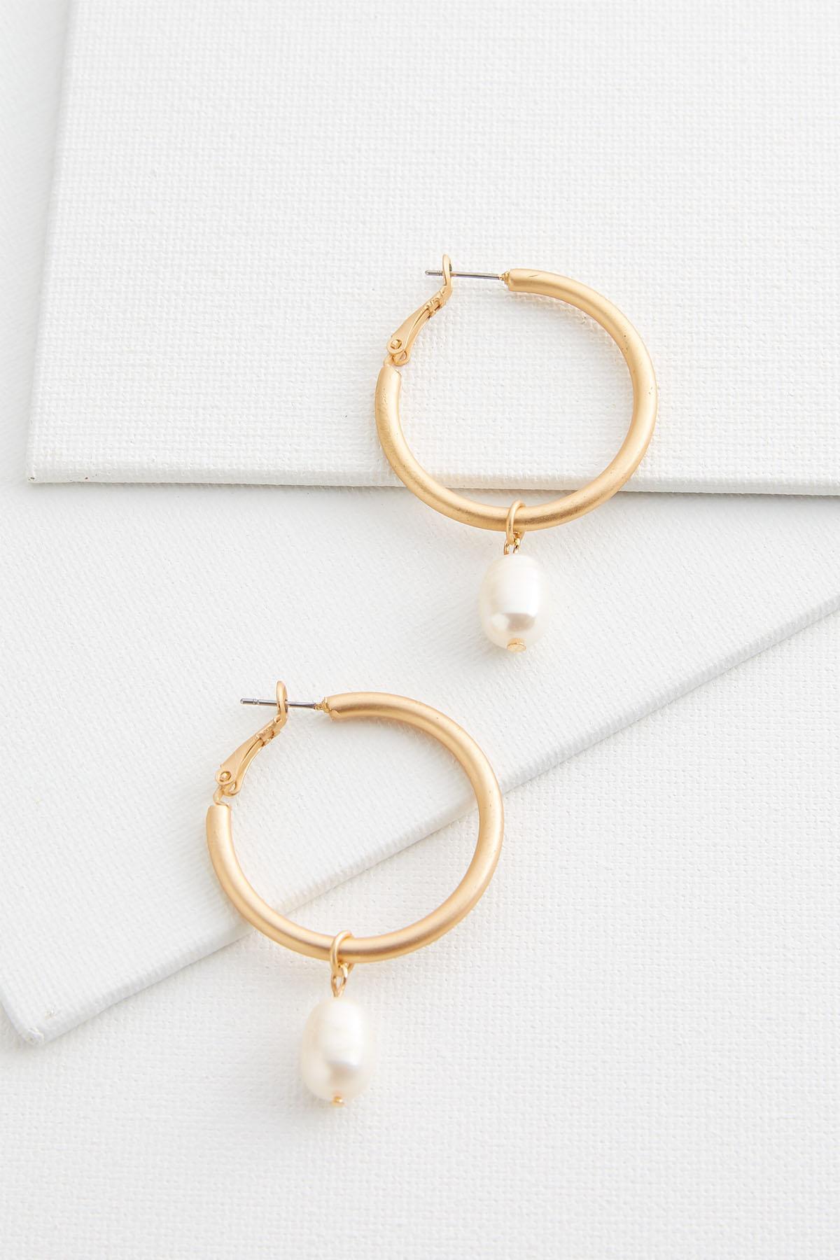 Pearl And Hoop Earrings