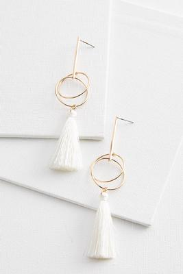 orbital tassel earrings