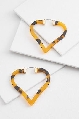 lucite heart hoop earrings