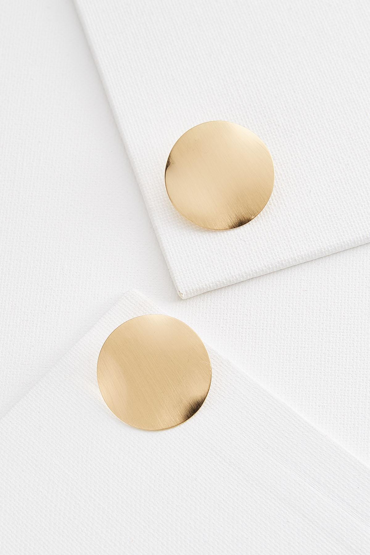 Worn Gold Disc Earrings