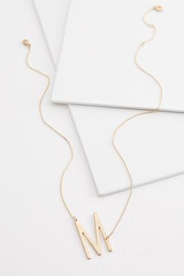 diagonal m pendant necklace