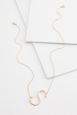 diagonal s pendant necklace