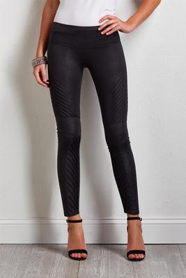 textured moto leggings