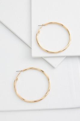oversized textured hoop earrings