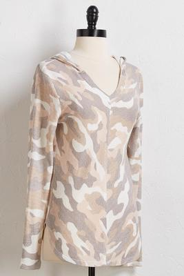 blush camo hoodie