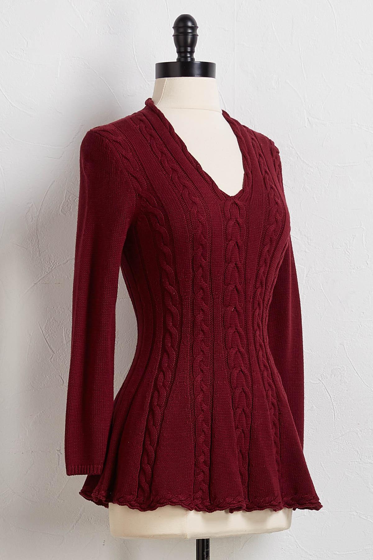 Jenny Peplum Sweater