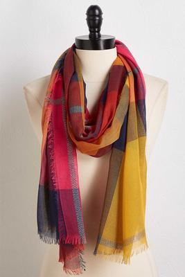 colorblock shimmer scarf