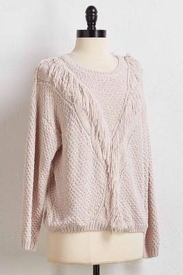 keep your fringe close sweater