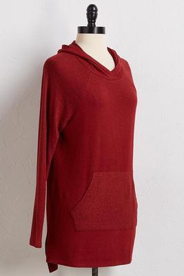 ribbed pocket hoodie