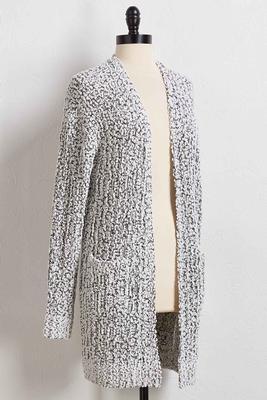 grayscale cardigan