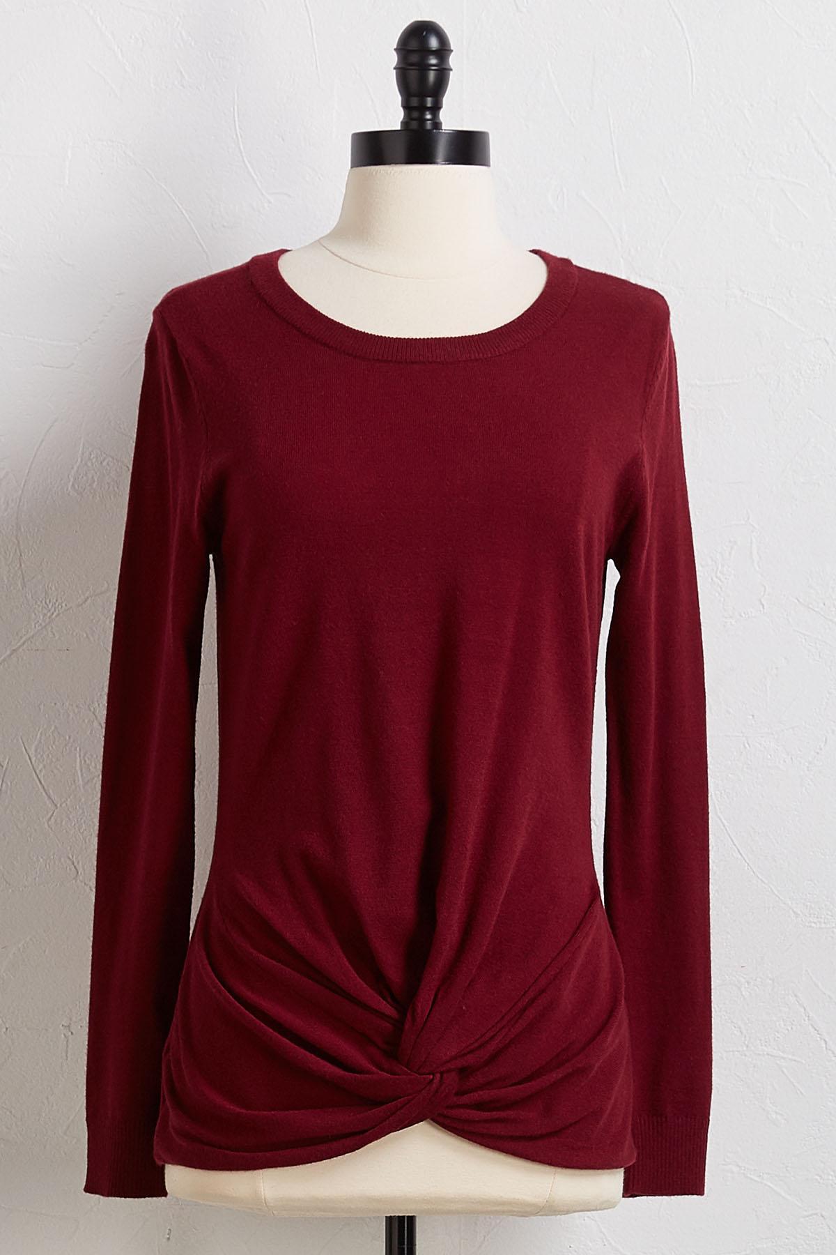 Twist Skimmer Sweater