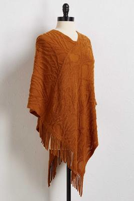 cozy feels poncho sweater