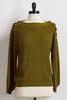 Olive Button Shoulder Sweater