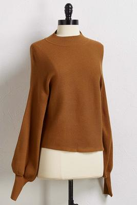 earth angel mock neck sweater