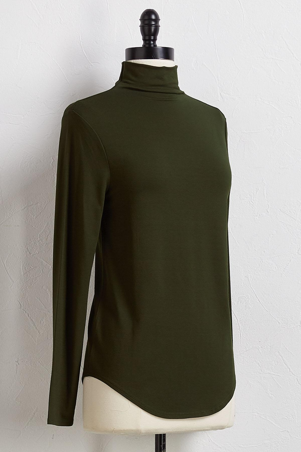 Pine Mock Neck Top