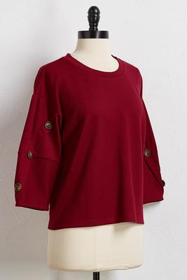 red balloon sleeve top